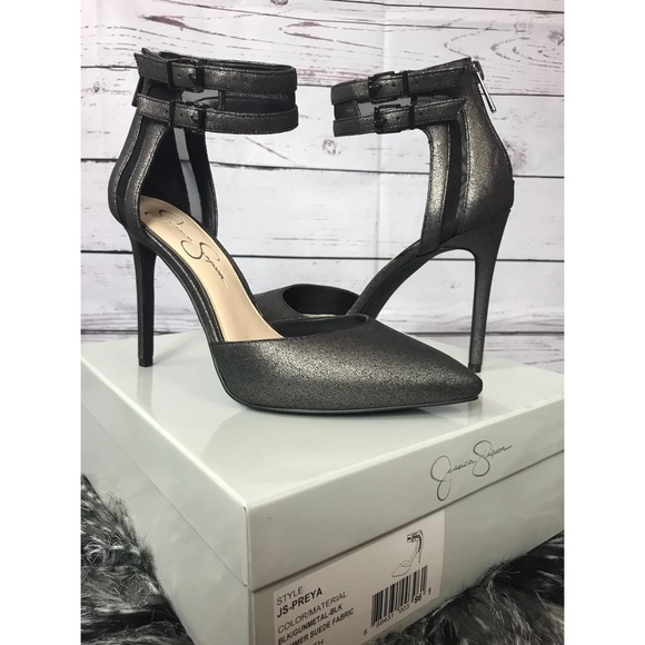 41f62d4a2c Jessica Simpson Shoes   Preya Ankle Strap Closed Toe Heel   Poshmark